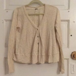 Cardigan Free People off white a-line cut